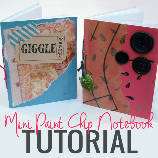 Mini Paint Chip Notebook Tutorial