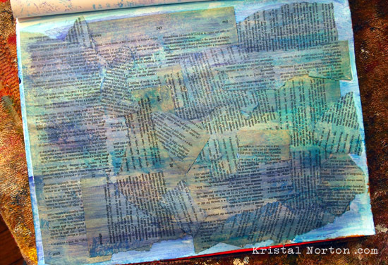 Art journaling 101 background techniques kristal norton for Background painting ideas