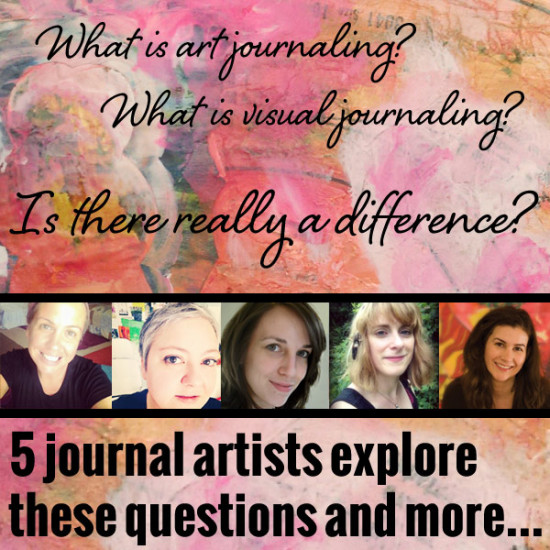 art journaling VS visual journaling