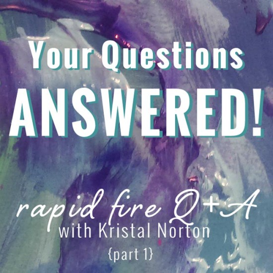 Rapid Fire Q+A part 1