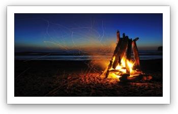 beach fire wallpaper
