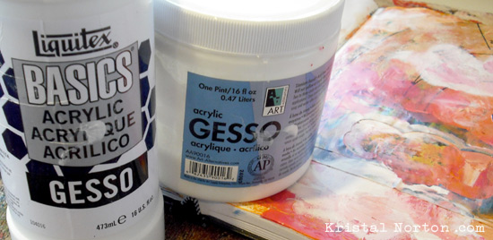 Art Journaling + Gesso