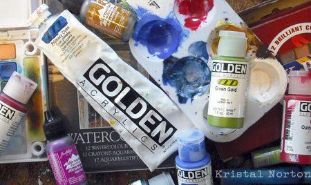 Art Journaling + Acrylic Paints