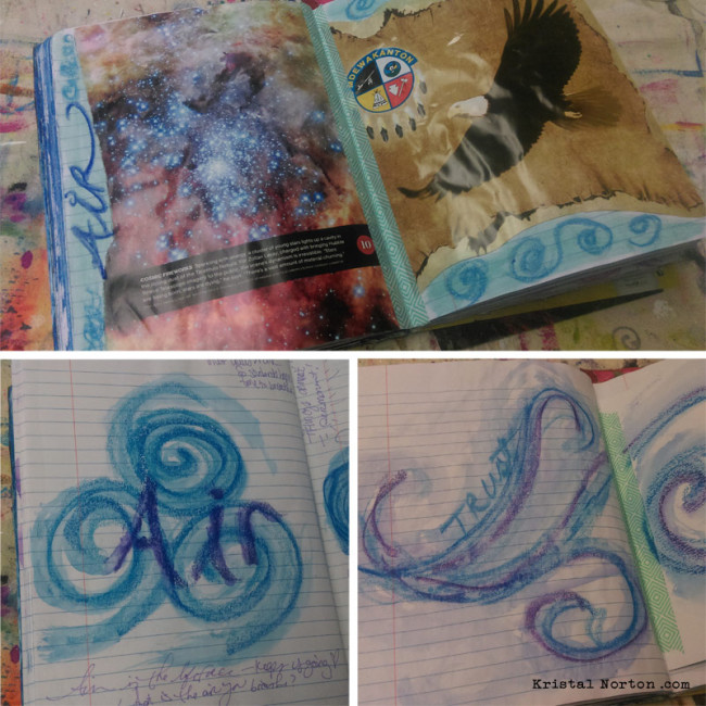 air art journaling by Kristal Norton